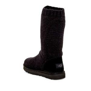 UGG Capra Ribbed Knit Shearling Lined Boot